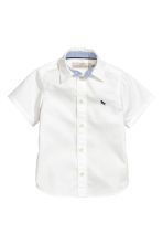 Cotton shirt - White -  | H&M CN 2